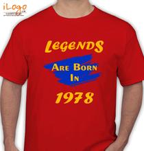 Legends are Born in 1978 Legends-are-born-in- T-Shirt