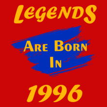 legends are born in 1996 t shirts for men and women editable designs