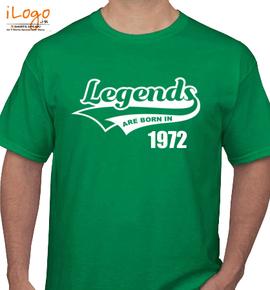 Legends are born %C - T-Shirt