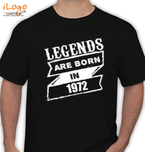 Legends are Born in 1972 T-Shirts