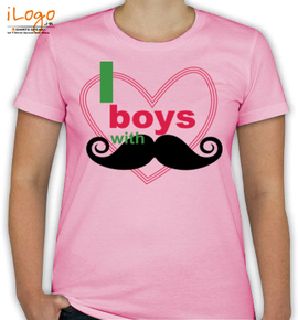 i love boy with muctache - T-Shirt [F]