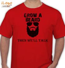 Beard Then-will-talk T-Shirt