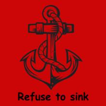 Navy Anchor. T-Shirt