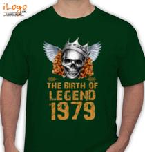 Legends are Born in 1979 LEGENDS-BORN-IN- T-Shirt