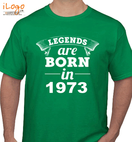 Legends are born in . - T-Shirt