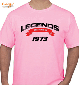 Legends are born in %A - T-Shirt