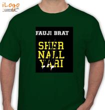 Army Wife FAUJI-BRAT-LION-NAIL T-Shirt
