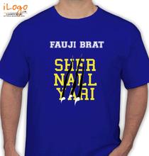 Army Brat FAUJI-BRAT-LION-NAILS T-Shirt