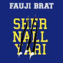 FAUJI-BRAT-LION-NAILS T-Shirt