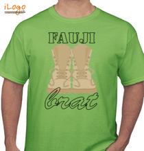 Army Brat fauji-brat-with-stencil-font T-Shirt