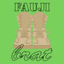 fauji-brat-with-stencil-font T-Shirt