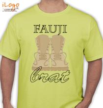 Army Brat fauji-brat-serif-font T-Shirt