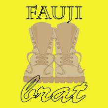 fauji-brat-serif-font T-Shirt