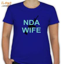 Army Wife NDA-WIFE-GUN-IN-BACK T-Shirt