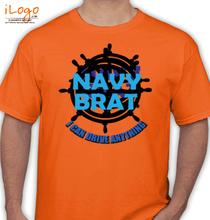 Naval Brat NAVY-BRAT-WITH-DRIVEWHEEL T-Shirt