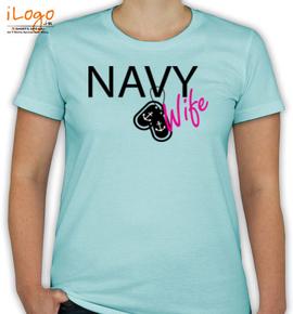 navy wife. - T-Shirt [F]