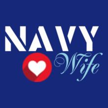 Navy Wife navy-wife-heart T-Shirt