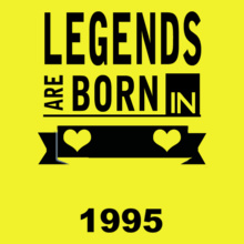 Legends are Born in 1995 Legends-are-born-in-%C%C T-Shirt