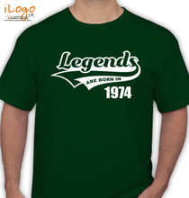 Legends are Born in 1974 T-Shirts