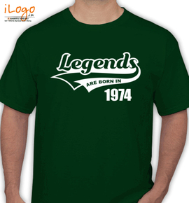 legends are born in %C - T-Shirt