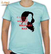 Army Wife fauji-wife-with-woman-silhouette T-Shirt
