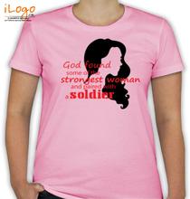 Army Wife fauji-wife-silhouette-of-woman T-Shirt