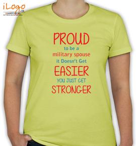 military-wife-slogan - T-Shirt [F]