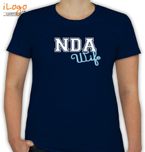 Army Wife nda-wife-only-text T-Shirt