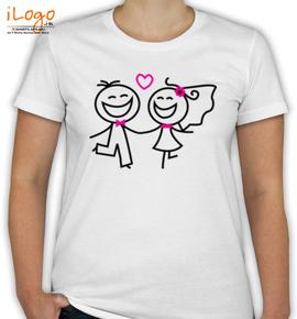 pencil couple - T-Shirt [F]