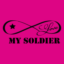 Army Wife star-love-my-soldier T-Shirt