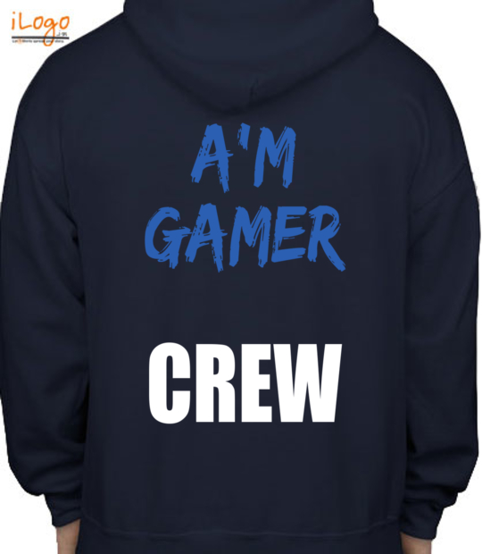 navy blue support a'm gamer:back