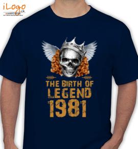 LEGENDS BORN IN  - T-Shirt