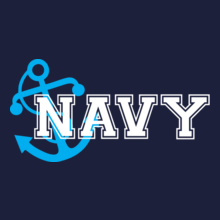 Indian Navy Anchor-navy T-Shirt
