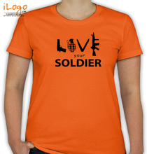Army Wife LOVE-UR-SOLDIER-ARMS T-Shirt