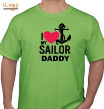 Naval Brat SAILOR-DADDY-HEART T-Shirt