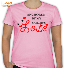 anchor by my sailor. - T-Shirt [F]