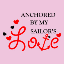 Navy Wife anchor-by-my-sailor. T-Shirt