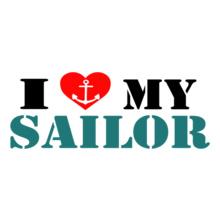 Navy Wife love-my-sailor-heart-n-anchor T-Shirt