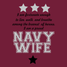 Navy Wife i-am-fortunate-enough T-Shirt