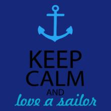 Navy Wife keep-calm-n-love-a-sailor T-Shirt