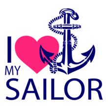 Navy Wife love-my-anchor-sailor T-Shirt