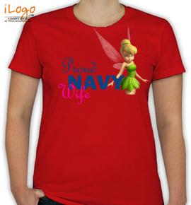 proud navy wife.tinker bell - T-Shirt [F]