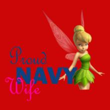 Navy Wife proud-navy-wife.tinker-bell T-Shirt