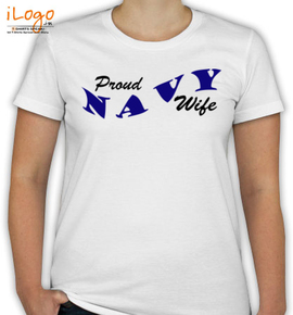 proud wife of navy - T-Shirt [F]