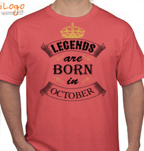Birthday Legends-born-in-OCTOBER. T-Shirt