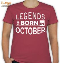 Birthday legends-bornin-october T-Shirt