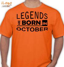 Birthday legends-bornin-october. T-Shirt
