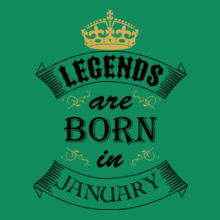 legend-born-in-january T-Shirt