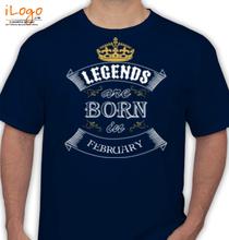 legend-born-in-february T-Shirt
