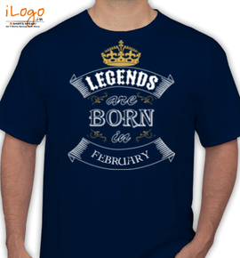 legend born in february - T-Shirt